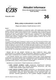 Aktuální informace č. 36/2013 - Ústav zdravotnických informací a ...