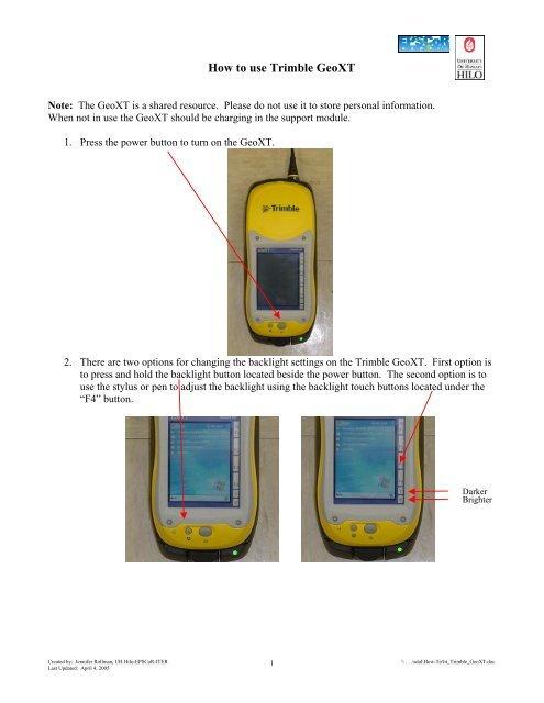 How to use HP iPAQ H5550 Pocket PC - University of Hawaii at