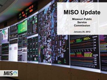 MISO Update - Missouri Public Service Commission