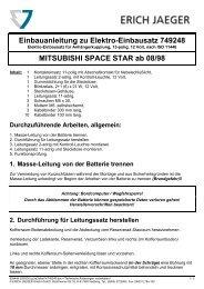 Einbauanleitung zu Elektro-Einbausatz 749248 MITSUBISHI ...