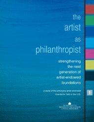 Artist as Philanthropist V1 - Grantmakers in the Arts