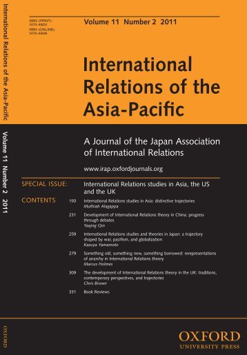 Front Matter (PDF) - International Relations of the Asia-Pacific