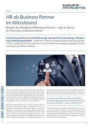 HR als Business Partner im Mittelstand - HRblue AG