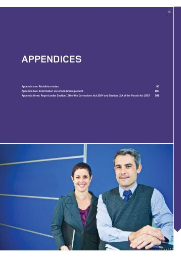 Department of Corrections - Annual Report 2012-13 - Appendices