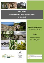 King Island Natural Resource Management Strategy 2010 to 2020