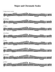 Major and Chromatic Scales