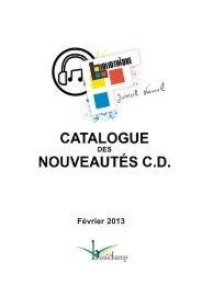 catalogue cd février 2013.qxd - Beauchamp