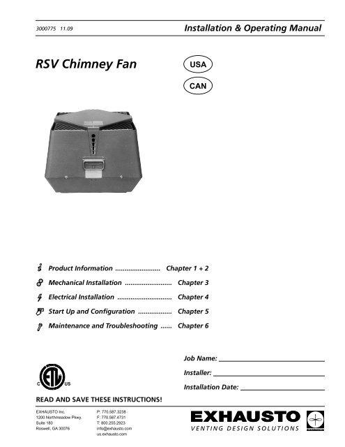 rsv chimney fan enervex  Exhausto Fan Wiring Schematic #13