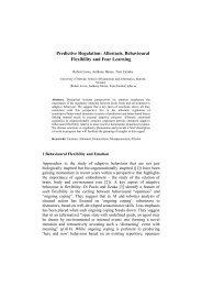 Predictive Regulation: Allostasis, Behavioural Flexibility and Fear ...