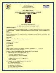 Herramientas de Excelencia para el Desarrolloo Secretarial - UNAM