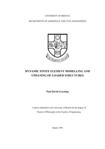 dynamic finite element modelling and updating of loaded structures