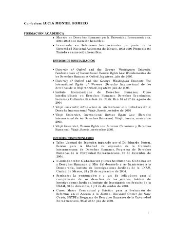 LUCIA MONTIEL ROMERO - Universidad Iberoamericana