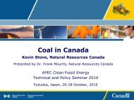 Coal in Canada - Expert Group on Clean Fossil Energy