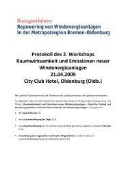 Protokoll des 2. Workshops Raumwirksamkeit und ... - wab.biz