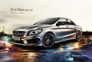 CLA-Class Price List June 2013 - Mercedes-Benz (UK)
