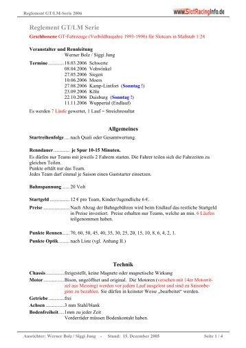 Reglement GT/LM Serie