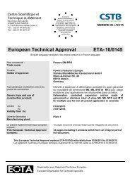 European Technical Approval ETA-10/0145