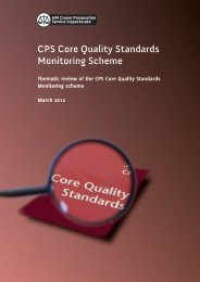 CPS Core Quality Standards Monitoring Scheme - HMCPSI