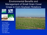 Soybean Yield Following a Rye Cover Crop