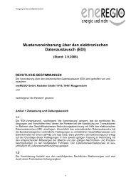 EDI-Mustervereinbarung - Eneregio