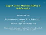 Support vector machines in bioinformatics - Center for ...