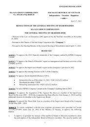 2013 AGM Resolutions - Masan Group