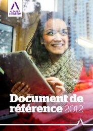 Document de référence 2012 - Altarea Cogedim