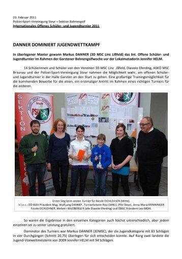 Halle Garsten - Schüler- und Jugendturnier - PSV Steyr