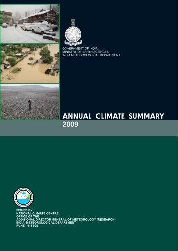 annual summary 2009.pdf - (IMD), Pune