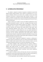 5. LA MODELLISTICA PREVISIONALE - Provincia di Ferrara
