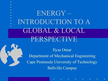 ENERGY Environmental Engineering (MEV040) - DLIST Benguela