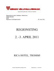 REGIONSTING 2. -3. APRIL 2011 - Norges Volleyballforbund