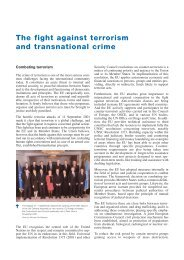 The fight against terrorism and transnational crime - European ...