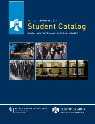 Student Catalog - Thunderbird School of Global Management