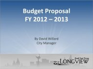 No Property Tax Rate Increase - Financial Services - City of Longview