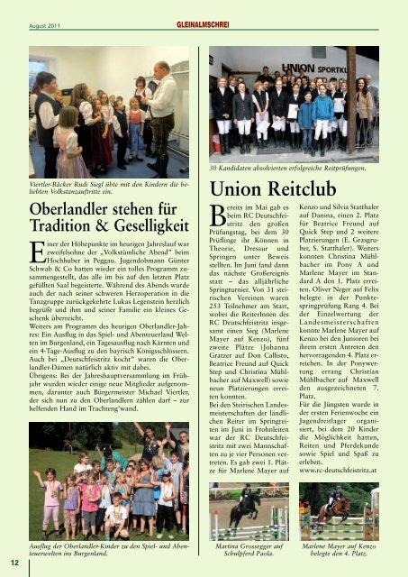Die Regionalzeitung der Gemeinden Deutschfeistritz, Großstübing