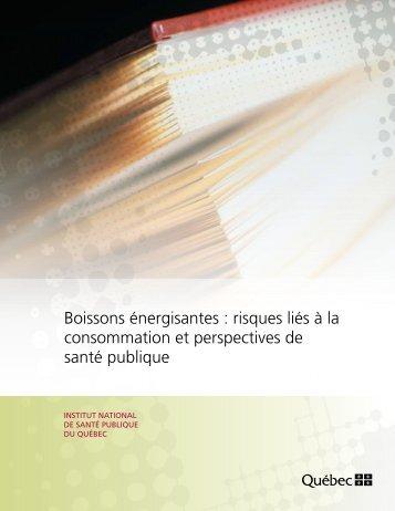 Boissons énergisantes - Institut national de santé publique du Québec