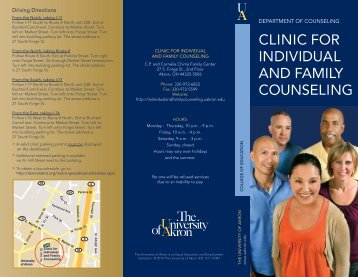Download the Clinic brochure - The University of Akron