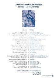 Reseña de Valores 2004 - Bolsa de Santiago