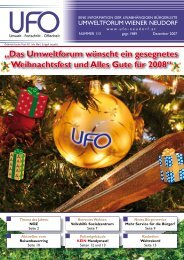 Zeitung Dezember - Umweltforum Wiener Neudorf