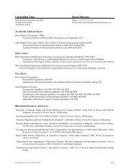 Curriculum Vitae Karen Macours - Paris School of Economics