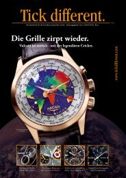 Vulcain: Die Grille zirpt wieder - Uhrsachen