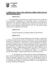 Ordenanza Fiscal del Impuesto sobre Vehículos de Tracción