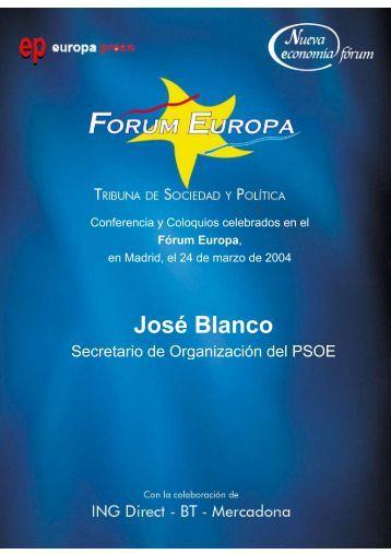 José Blanco - Nueva Economía Fórum