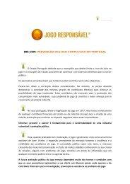 888.COM: PREVENÇÃO DO JOGO COMPULSIVO ... - Jogo Remoto