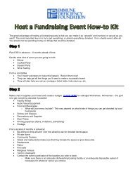 Host a Fundraising Event How-to Kit