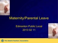 Information Session Presentation Slides - Local37.teachers.ab.ca