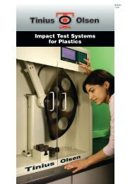 Impact Test Systems for Plastics