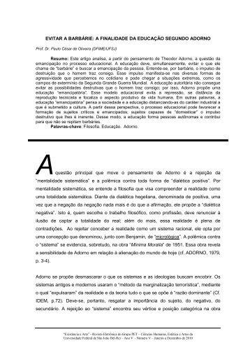 Prof. Dr. Paulo César de Oliveira - UFSJ