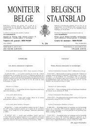 MONITEUR BELGE BELGISCH STAATSBLAD - Juridat
